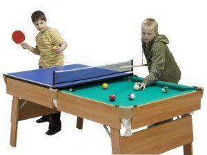 стол трансформер 2в1 для игры в бильярд и настольный теннис