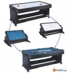 Стол трансформер для игры в бильярд и аэрохокей