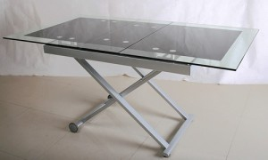 Кухонный стеклянный стол трансформер