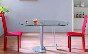 Обеденый стол трансформер стеклянный