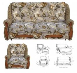 Раскладные диван и кресла