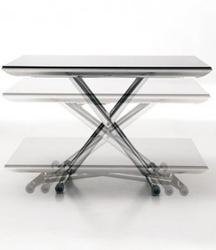 Стол трансформер стеклянный
