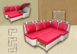 Кухонный раскладной диван угловой