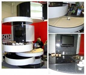 Круглая кухня трансформер