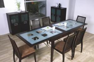 Стеклянный стол раскладной обеденный