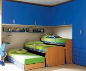 трёхъярусная выдвижная детская кровать