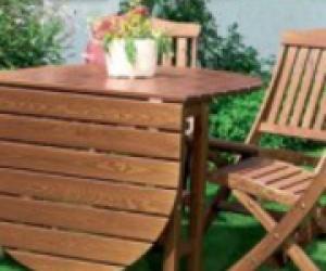 раскладная мебель для беседки, стол трансформер и раскладные стулья