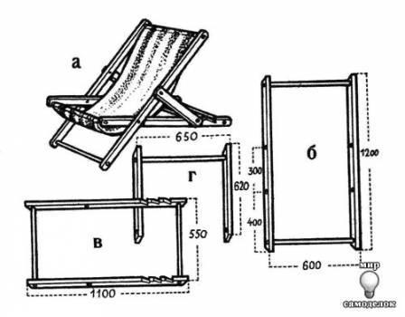 Складные кресла своими руками чертежи
